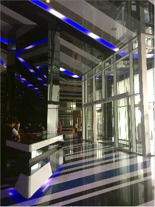 The W, lobby, Dubai