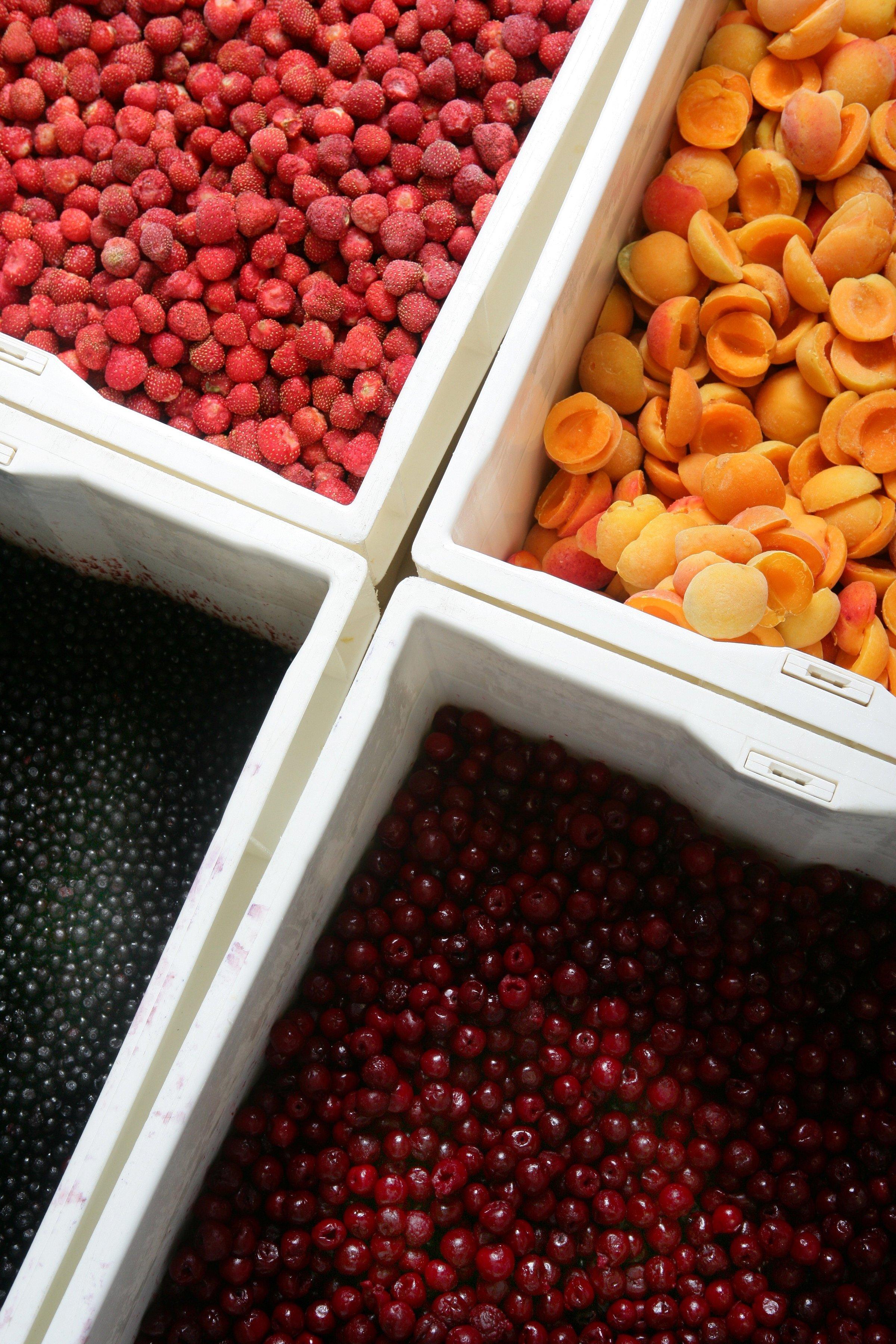 Fruits divers pour les confitures