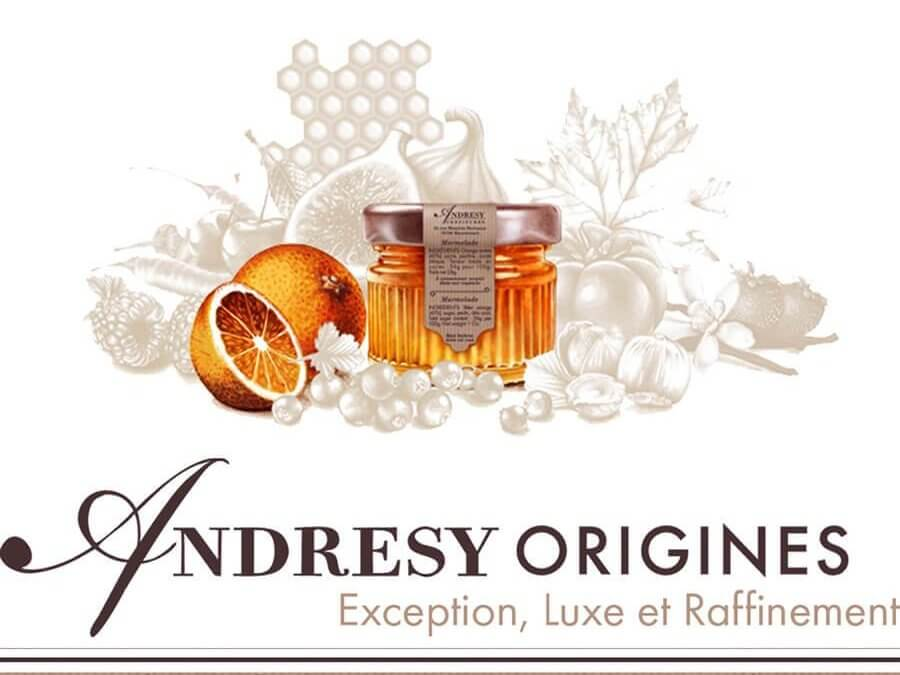 Why is the mini jar of individual jam from the Prestige Andrésy Origines brand perfectly suited to the breakfast buffet in 4 * and 5 * hotels?