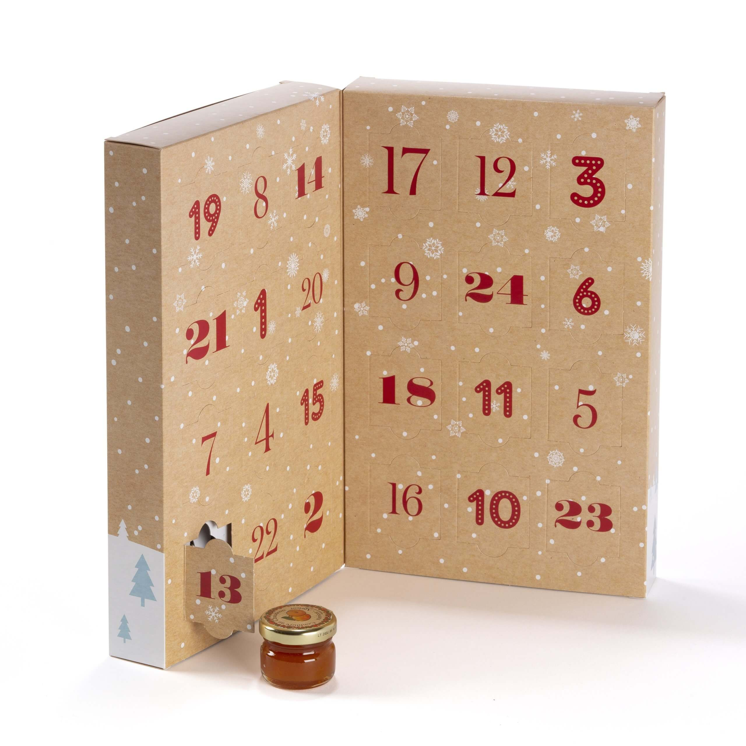 Avent calendar with 24 jam recipes by Andresy Confitures