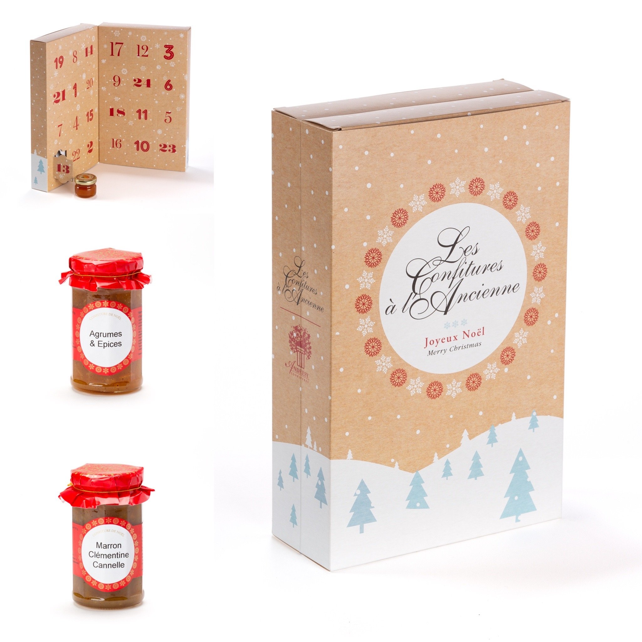 Christmas marmalade and jam avent calendar by Andresy Confitures